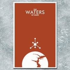 Doctor Who Poster The Waters of Mars  11x17 by ModernStylographer, $17.00