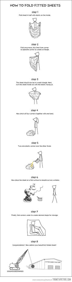 How to fold fitted sheets…