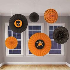 Loving these medallions - Halloween Paper Fan Decorations