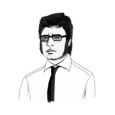 Jermaine from Flight of the Conchords by Brisbane artist Fee Harding.