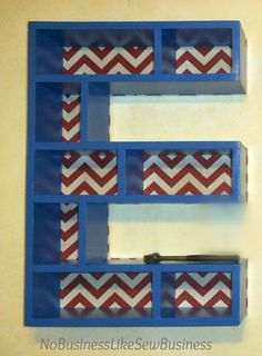 No Business Like Sew Business: Letter Shelves