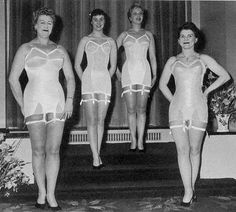 Short history of girdles & corsets. These are Spirella girdles, worn by ladies of all ages!
