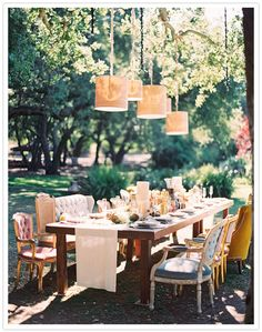 From 100 Layer Cake- for a wedding but would love to do these chairs around my dining room table
