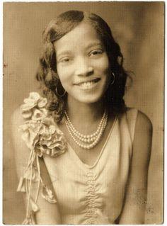 african american, vintag black, black vintag, photograph, pearls