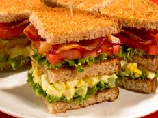 Bacon & Egg Club Sandwich Recipe... Is it for breakfast or lunch? Who cares. It's incredible for any meal of the day.