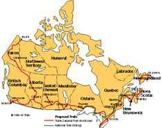 Trans-Canada Trail and National Trail map