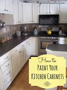 How to repaint kitchen cabinets / http://www.theprairiehomestead.com/2013/03/how-to-paint-your-kitchen-cabinets.html