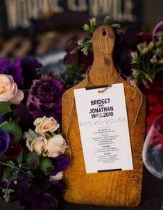 Wedding Details: Creative Menu Ideas