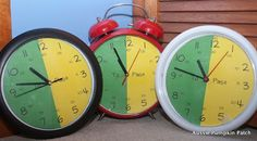 Clever way to change real clocks to help kids learn alternate ways of telling time.