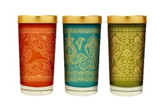 Beautiful votives with Indian style patterns