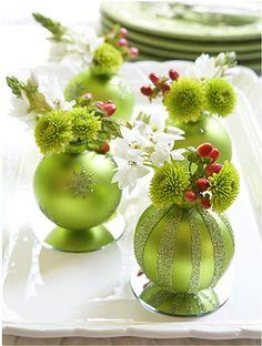 DIY ornament vases...GOOD idea!