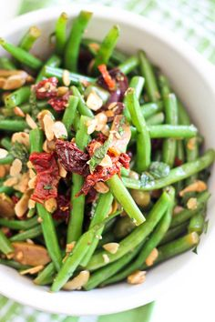 Green Beans, Olives and Sundried Tomato Salad