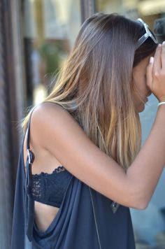 summer styles, fashion, hair colors, ombre hair, cut shirts, street styles, bandeau, tank, cut outs