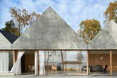 concrete gabled summerhouse lagno by tham & videgard