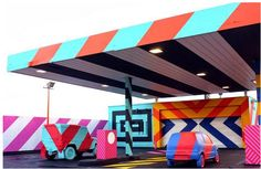 Forget About The Snow And Ice With This Colorful Repurposed Gas Station | The Creators Project