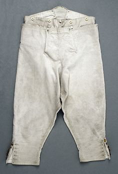 18th century late - 19th early. Breeches British, cotton metmuseum.org
