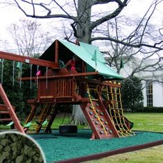 Green Playsafer® Rubber Mulch 72 cubic ft. Supersack 2,000 lbs. - http://supplies.myraisedbedgarden.net/soils-fertilizers-mulches/mulches/green-playsafer-rubber-mulch-72-cubic-ft-supersack-2000-lbs/