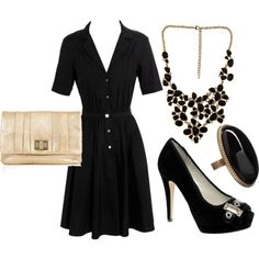 little black & gold ensemble