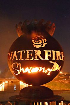 Did you know that the first fire lit in the Ohio Flame Fire Globe™ were cedar and pine from WaterFire Providence - so cool and THANKS Providence! (photo credit: Lisa Leone Koss)