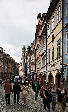 The streets of Prague.  A magical place.