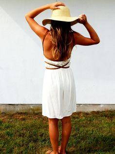 White Siren Grecian Dress