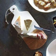 marble and acacia wood cheese paddle $23.96