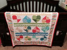 Patchwork Hearts and Rick Rack Baby Quilt