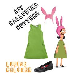 """DIY Halloween Costume: Louise Belcher (Bob's Burgers)"" by chezamanda on Polyvore"