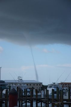 Waterspout in Key West Harbor - Key West, Florida