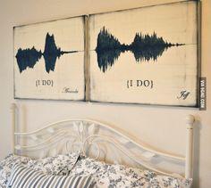 """i do"" soundwave art"