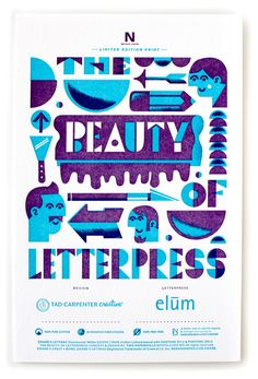 Beauty of Letterpress print by Tad Carpenter Creative