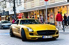 Yellow Mercedes Benz