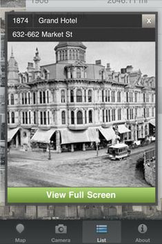 What Was There: An iPhone app that shows historical photos at specific locations. Auburn Ave.