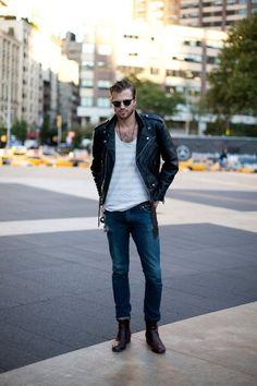biker jackets, fashion styles, men style, guy fashion, street styles, men clothes, street style fashion, leather jackets, fashion boots