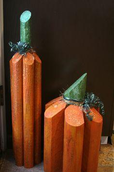 Wood pumpkins http://www.antibradybunch.com