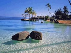 Crystal clear waters in Saint Lucia.