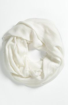 simple white infinity scarf.