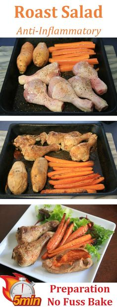 Roast Salad- Just 5 minutes prep, put in the oven for a no fuss bake, then serve.