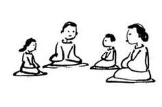 """""""Resources for Pebble Meditation"""" from Mindful Kids : Resources for sharing mindfulness with children and a place to share ideas"""
