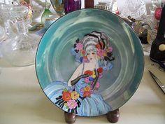 "8 1 2"" Diameter Noritake Flapper Woman Lustre Plate Signed | eBay"