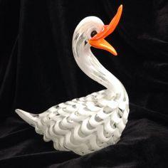 Murano Glass Duck Sculpture Venetian