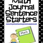 Common Core Math Journal Sentence Starters