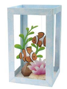Paper Craft aquarium. Tissue box maybe?