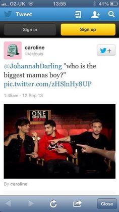 "Aww! Louis is like, ""ME! :)"""