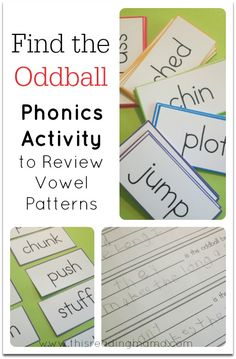 FREE Find the Oddball: a Phonics Activity to Review Vowel Patterns ~ short vowel patterns, long vowel patterns, r-controlled vowels, and other vowels included ~ 23 pages! | This Reading Mama