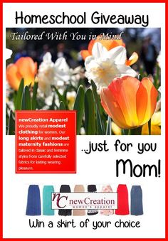 Enter to win the newcreations #homeschool giveaway for mom! http://www.christianhomeschoolhub.com/