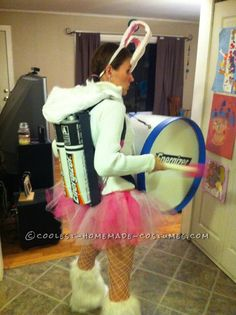 Coolest Homemade Energizer Bunny Costume… Enter the Coolest Halloween Costume Contest at http://ideas.coolest-homemade-costumes.com/submit/