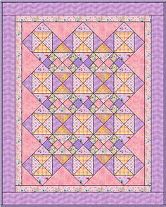 Make Your Little One a Cuddly In the Pinks Baby Quilt: About In the Pinks Baby Quilt
