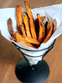 homemade baked sweet potato fries from ambitiouskitchen.com