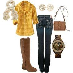 Love the yellow shirt